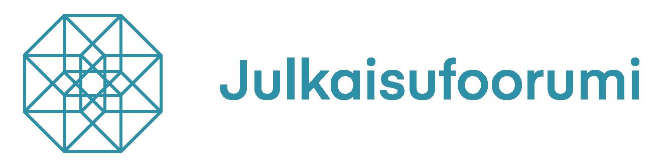 Logotipo do Julkaisufoorumin com link externo para exibir a página da Revista no indexador