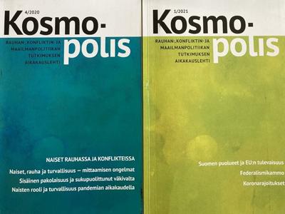Kosmopolis-lehden eri numeroiden kansikuvia.